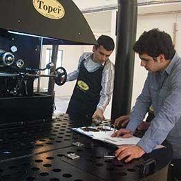 tkmx 240 탑 산업용 커피 로스터
