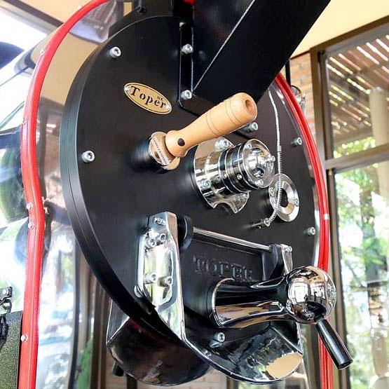 pražírna kávy typu shop