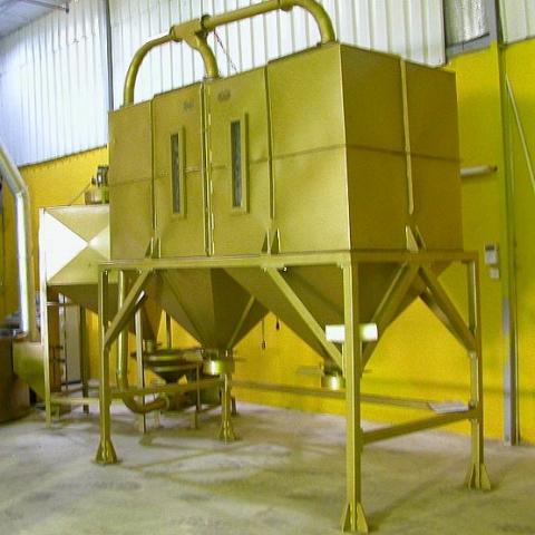 toper industrial coffee silo gold