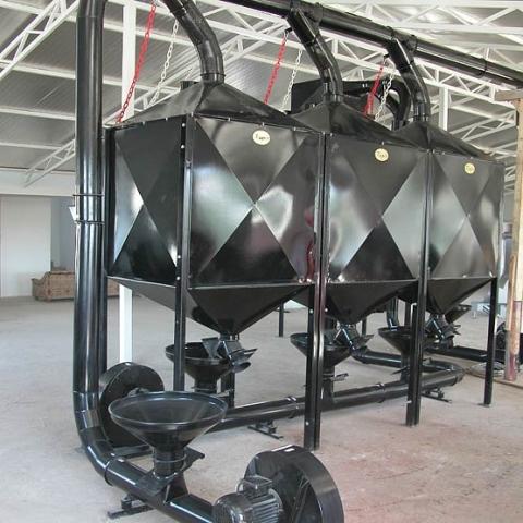 toper industrial coffee silo black