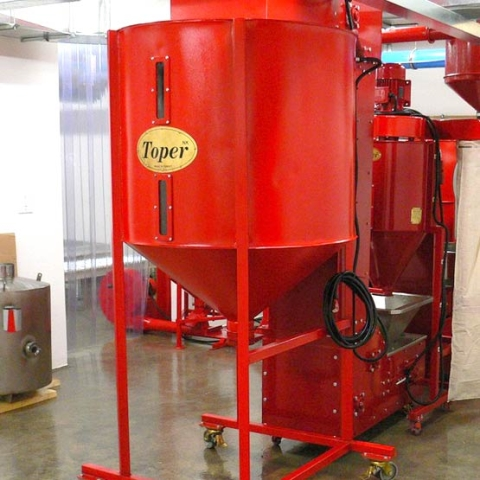 toper industrial coffee silo red